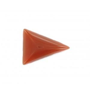 Triangle cabochon, cornelian 24x18 mm
