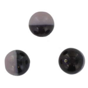 Two tone round bead, light purple and dark purple 18 mm