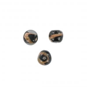 Baroque bead with aventurine, black 10 mm