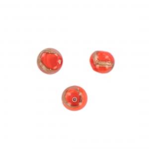 Baroque bead with aventurine, orange 10 mm